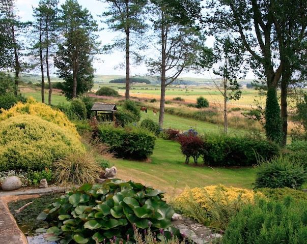 The gardens of East Challoch Farm B&B