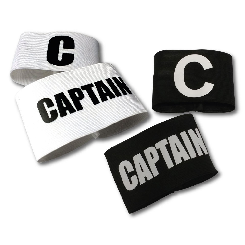 72mm Wide Elastic Captain Armbands -White And Black