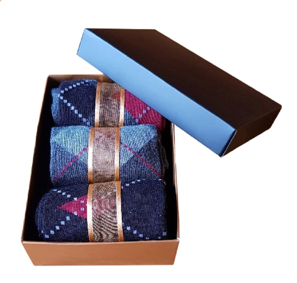 Men's Argyle Socks, Gift Boxed