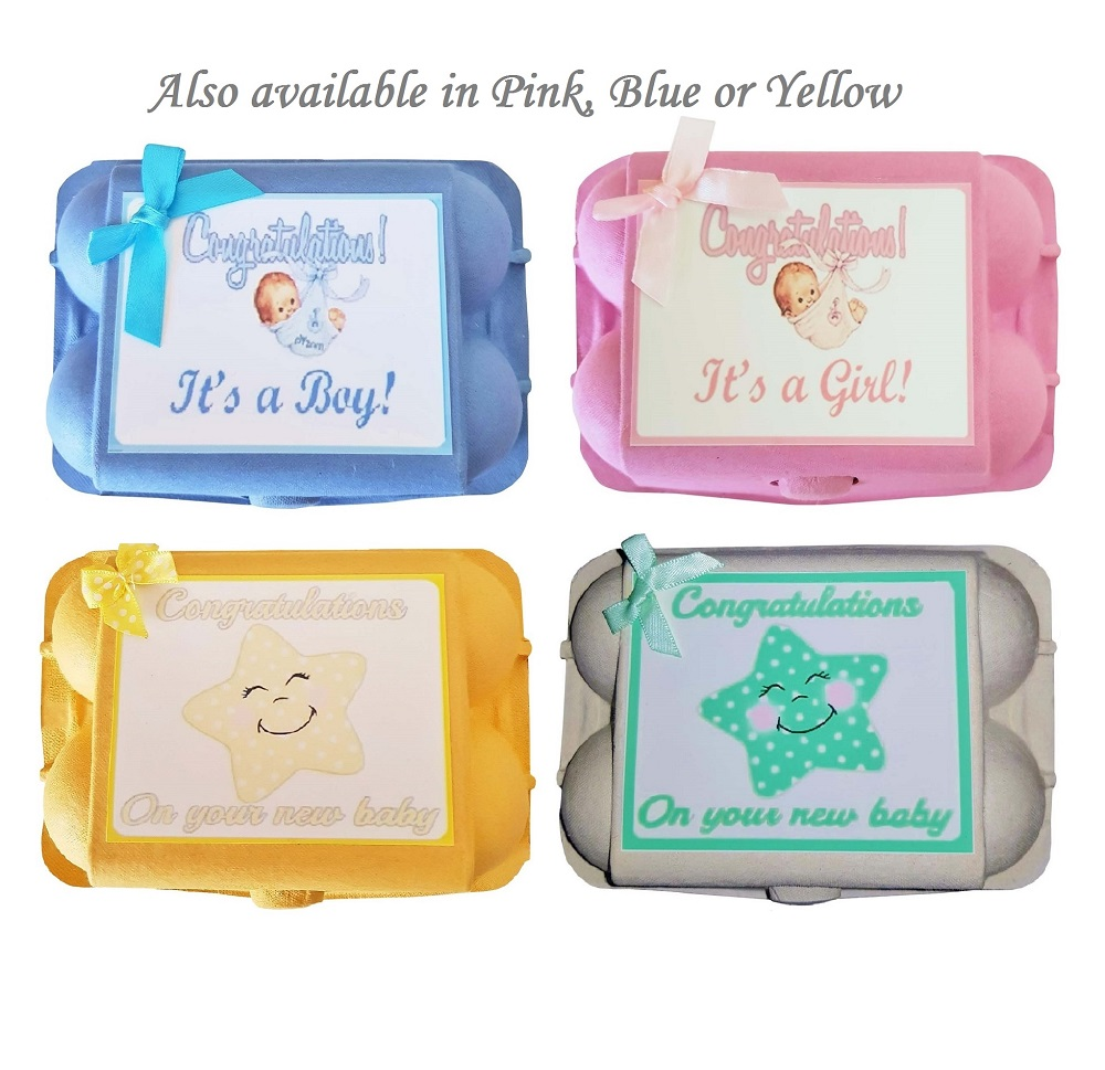 Baby Socks & Mitts - Mint Egg Carton Gift