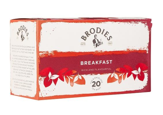 Brodie Melrose Breakfast Tea Tag and Envelope Tea Bags