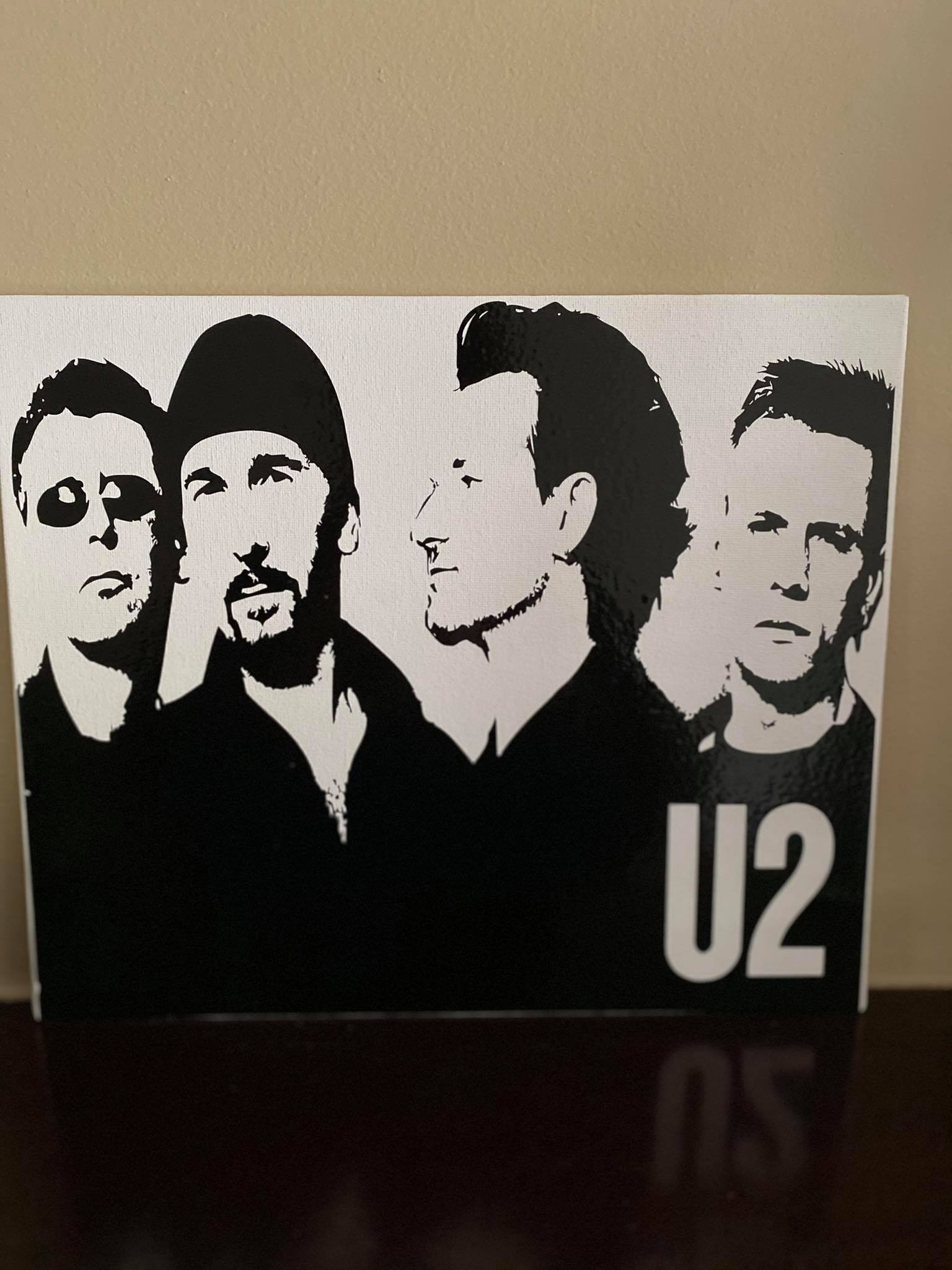 U2 Inspired Canvas Board