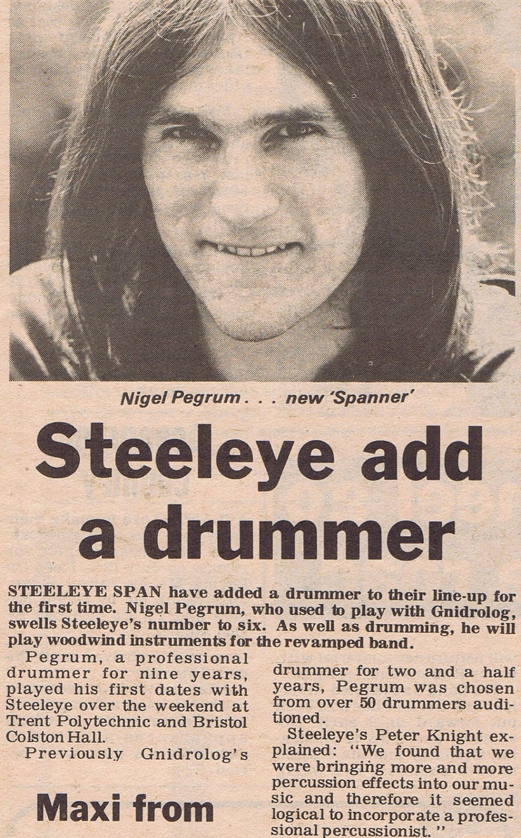 nigel pegrum drums steeleye span
