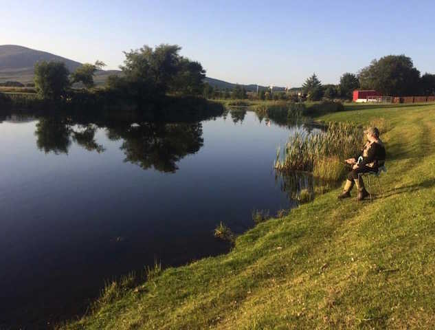 Fishing at Glenquicken Troutmasters Fishery near Newton Stewart