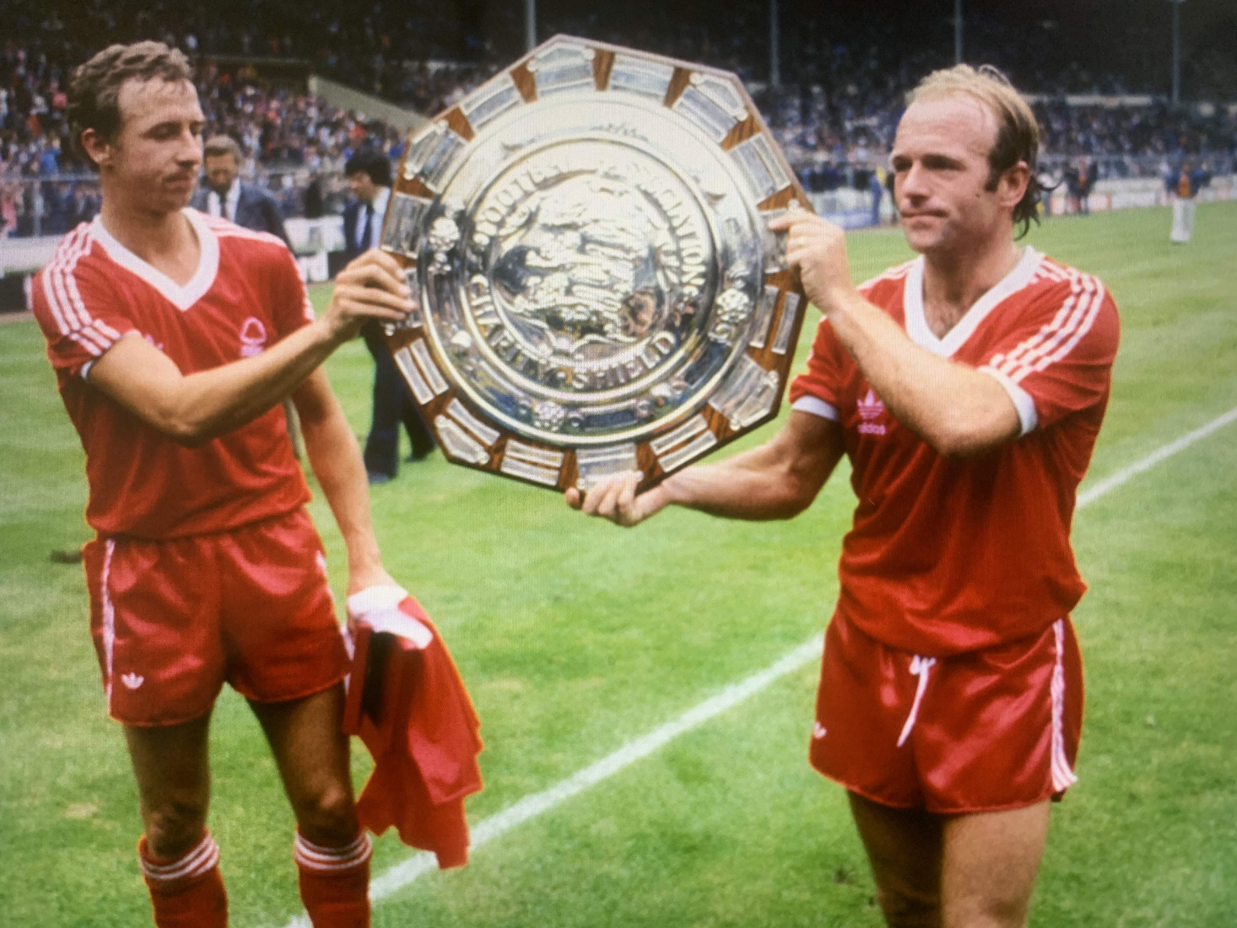 Archie (right) & John McGovern with Charity Shield