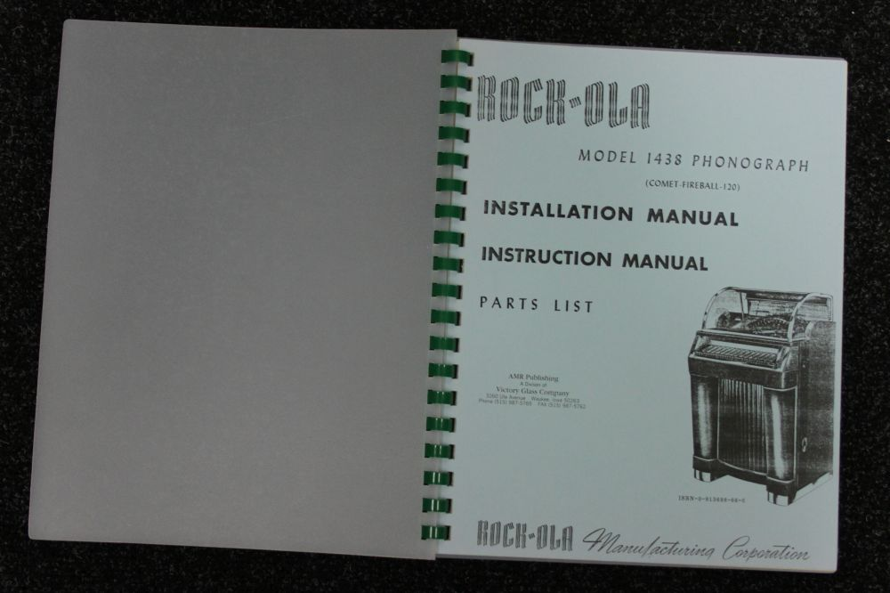 Rock-ola - Installation, Instruction Manual and Parts List - Model 1438