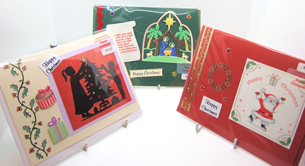 Three handmade Christmas cards - set 7