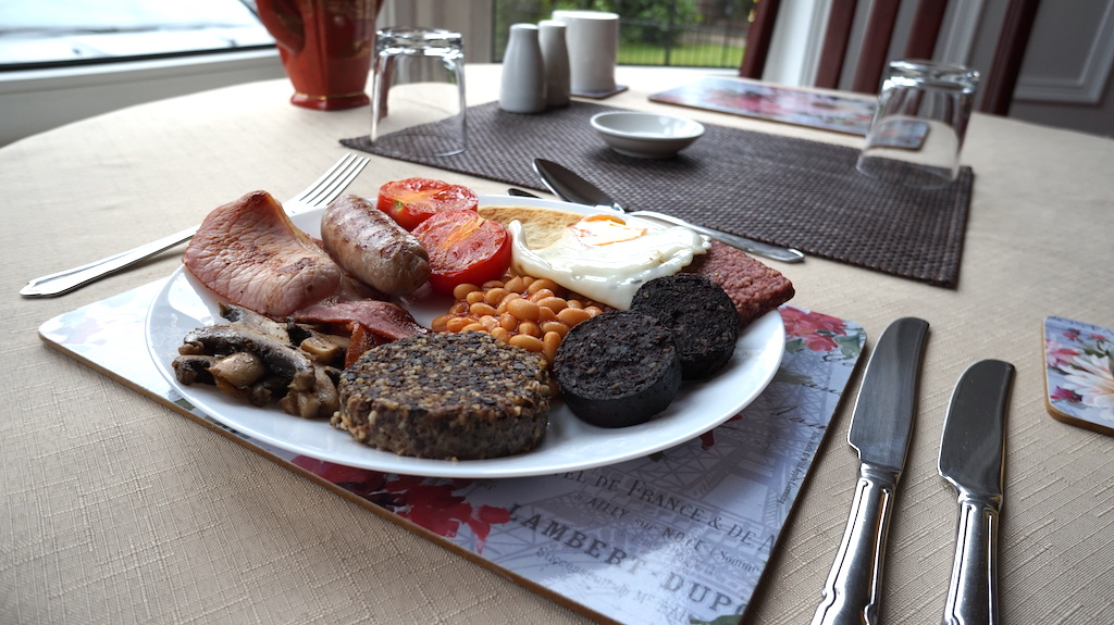 Breakfast at Lindean Guest House Dumfries