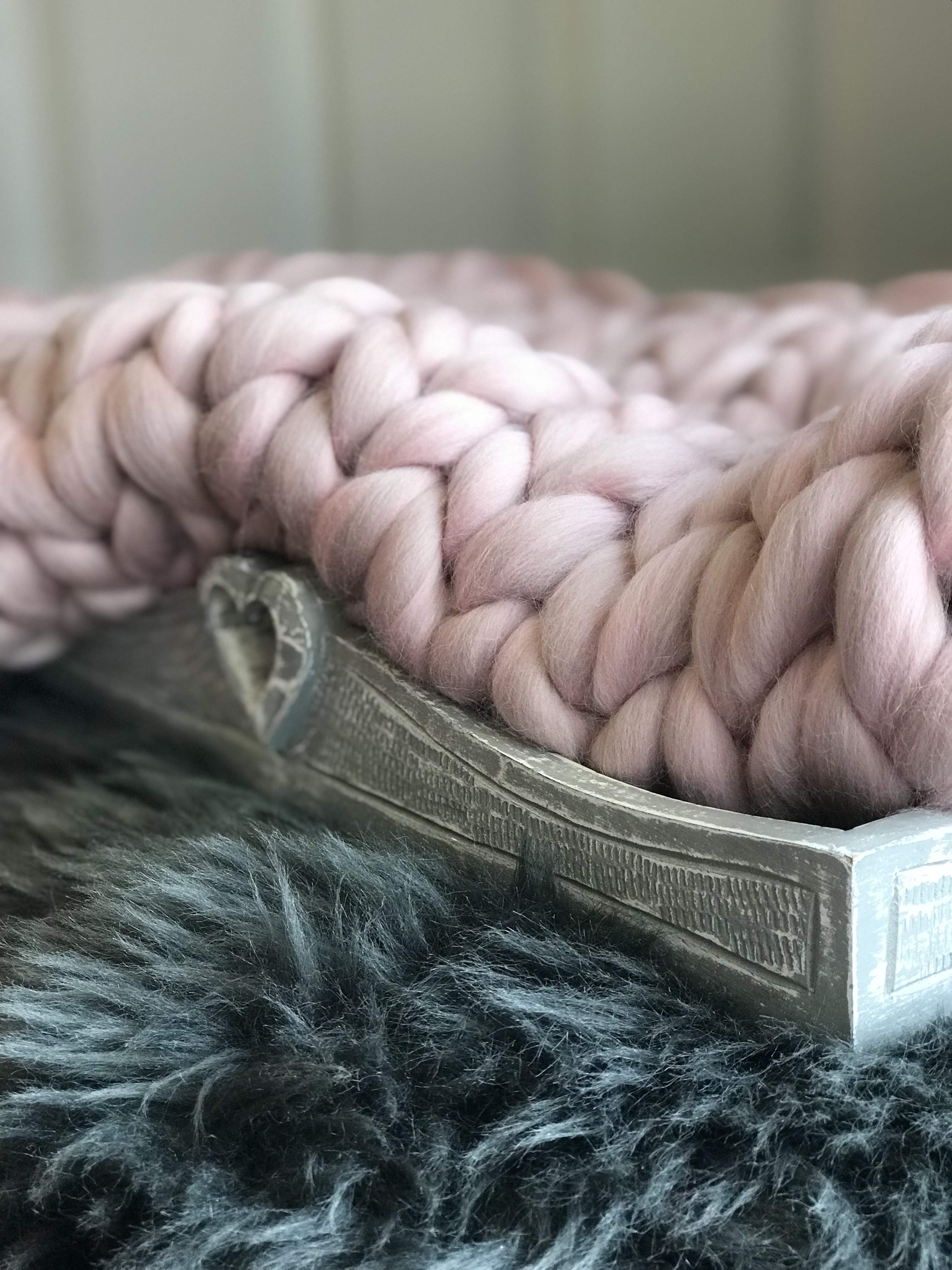 Bespoke - Blush blanket/throw