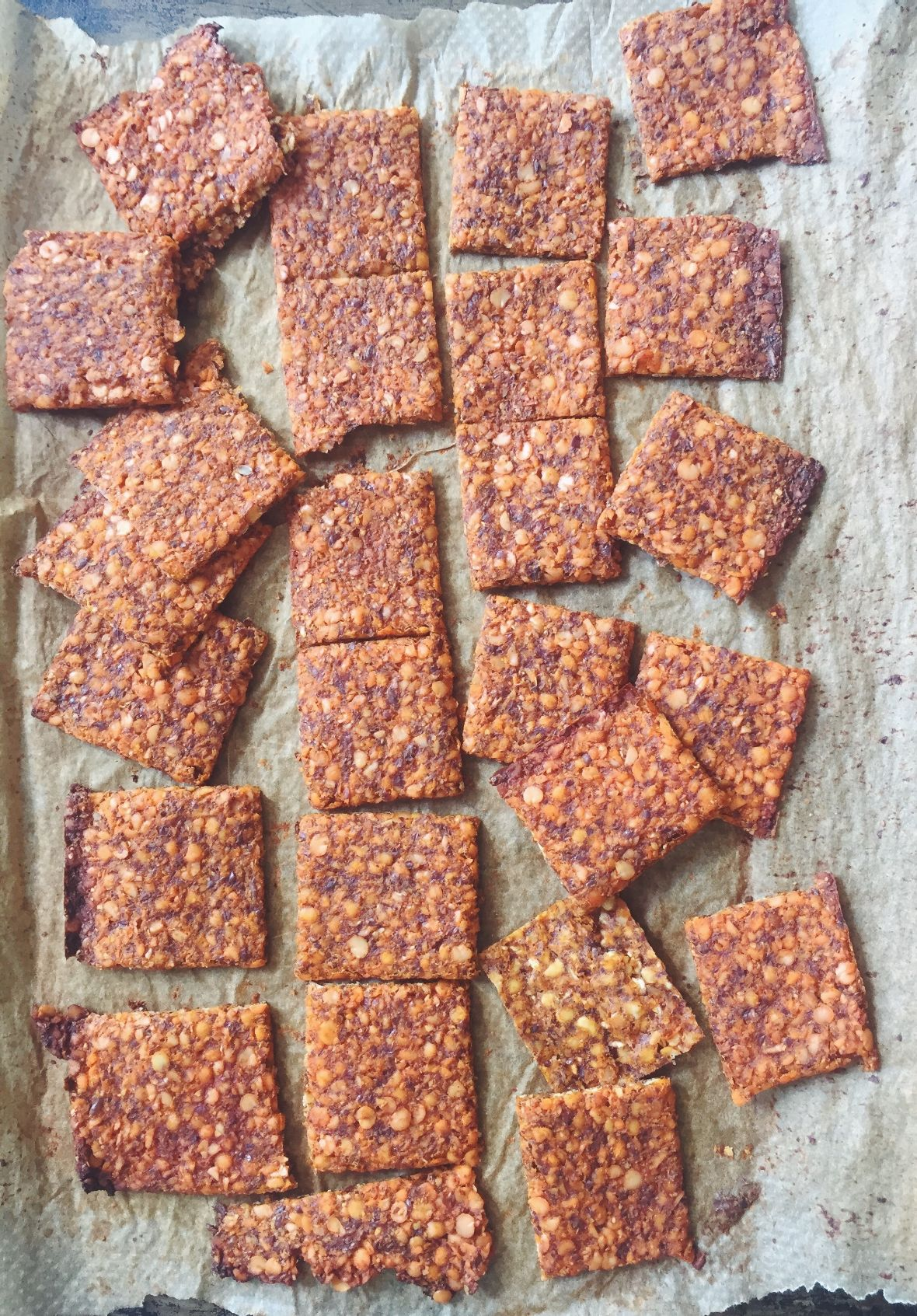 Red Lentil & Chilli Crackers