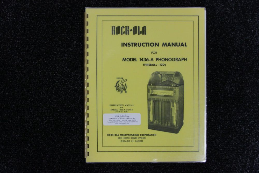 Rock-ola - Instruction Manual - Model 1436-A