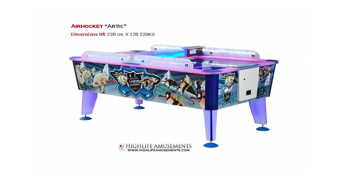 "Airhockey ""artic"" 8ft"