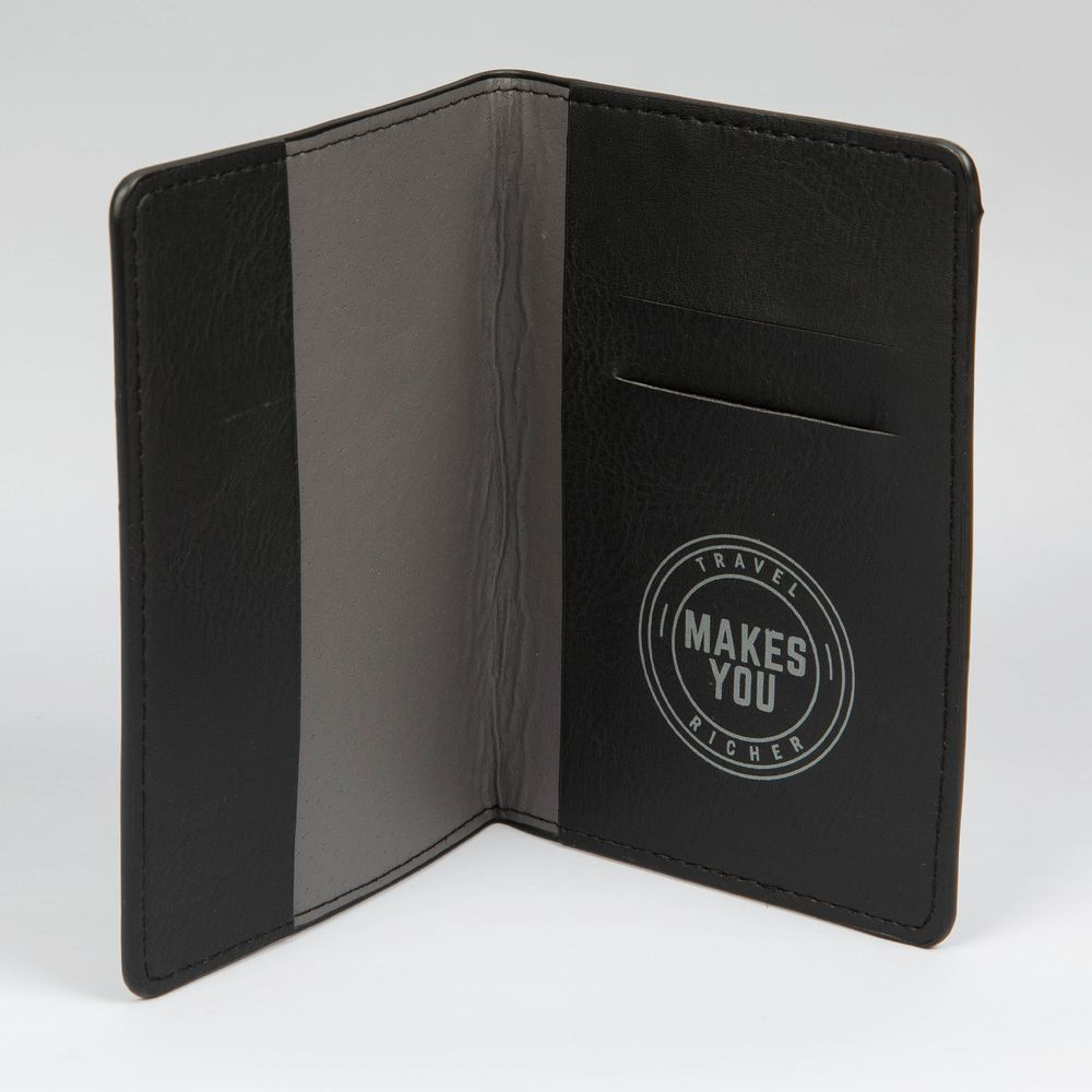 'Travel Makes You Richer' Passport Cover