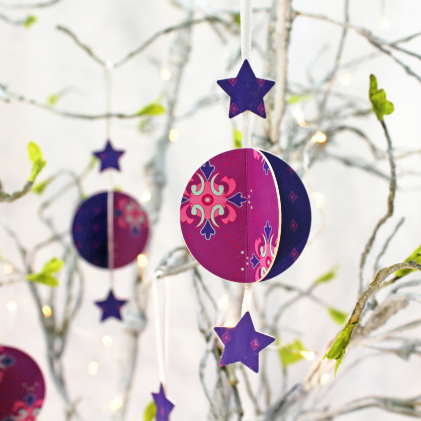 Baubles - Purple Decorations (set of 3)
