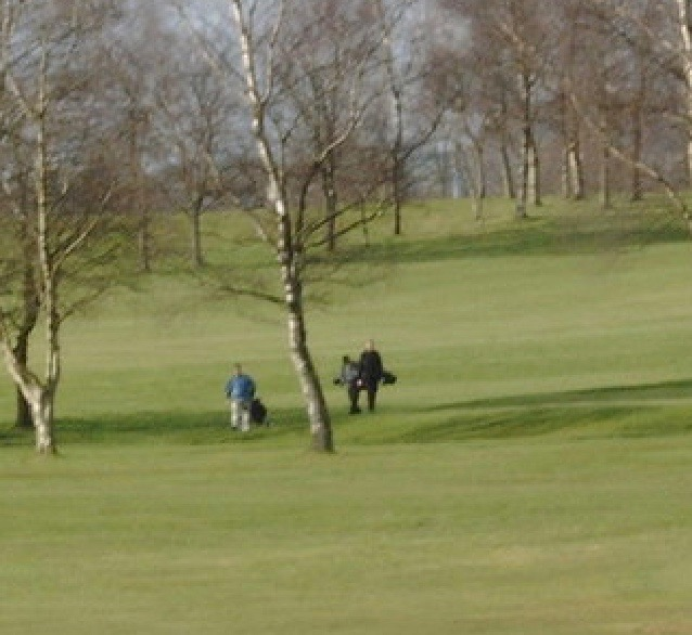 Golfers at Dumfries & County Golf Club