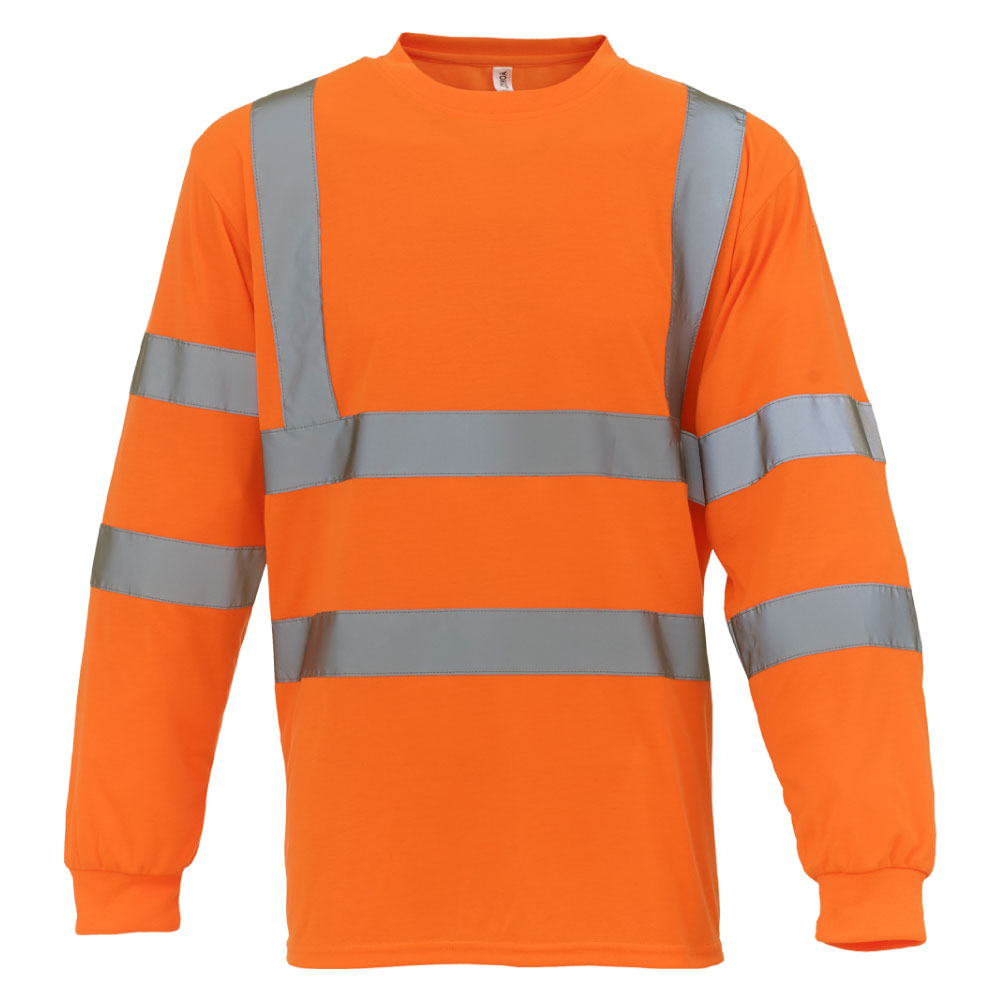 Hi Vis Orange Long Sleeve T-Shirt.