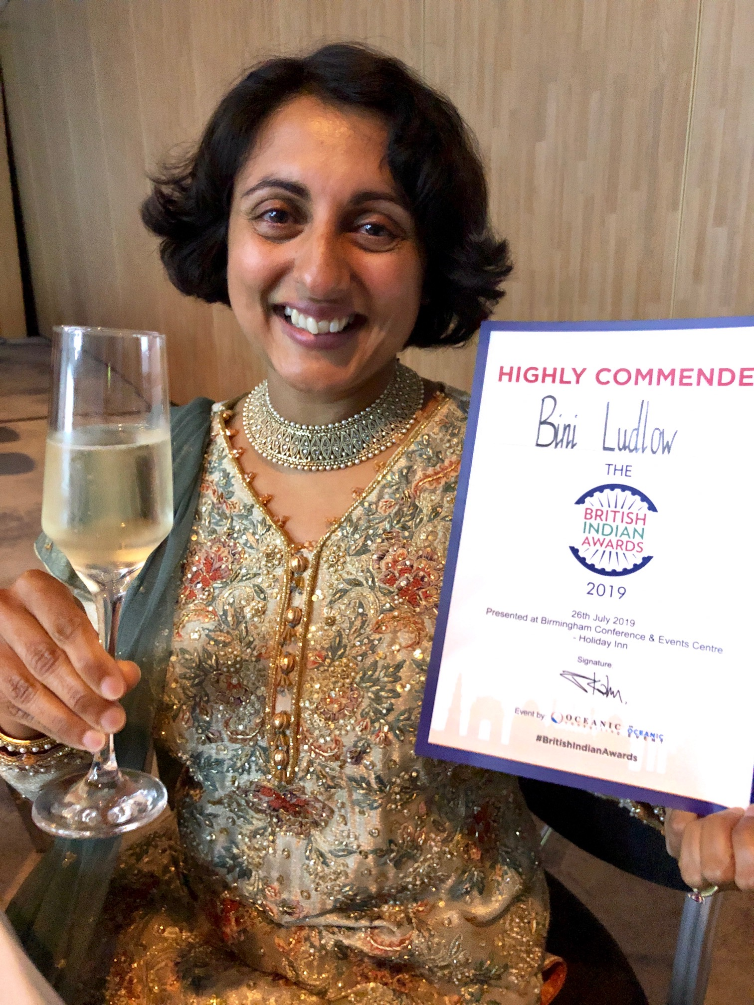 Highly Commended - British Indian Awards - Business Women of the Year 2019