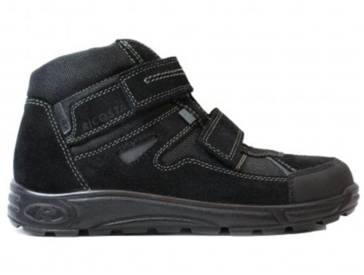 Black boys trainers with Velcro fastenings
