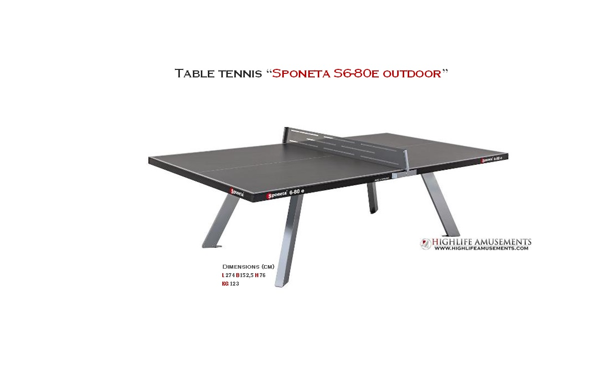 "Table tennis ""Sponeta S6-80 e Grey Outdoor"""
