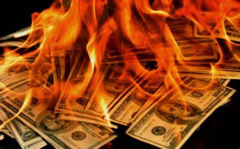 burning money pic
