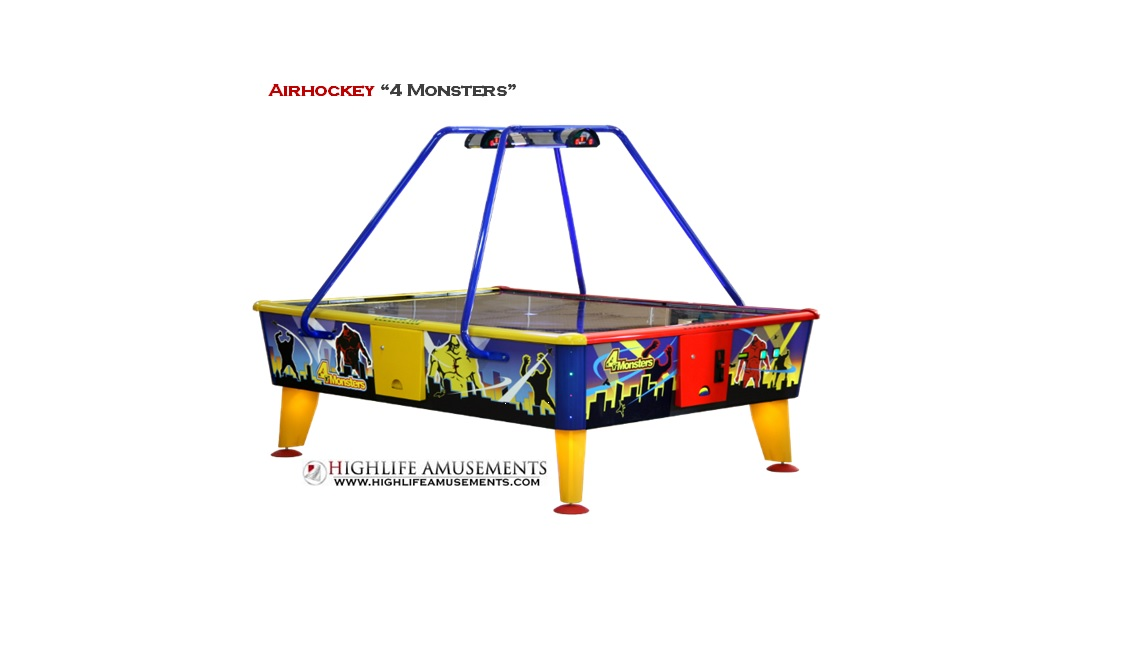 "Airhockey ""4 Monsters"""