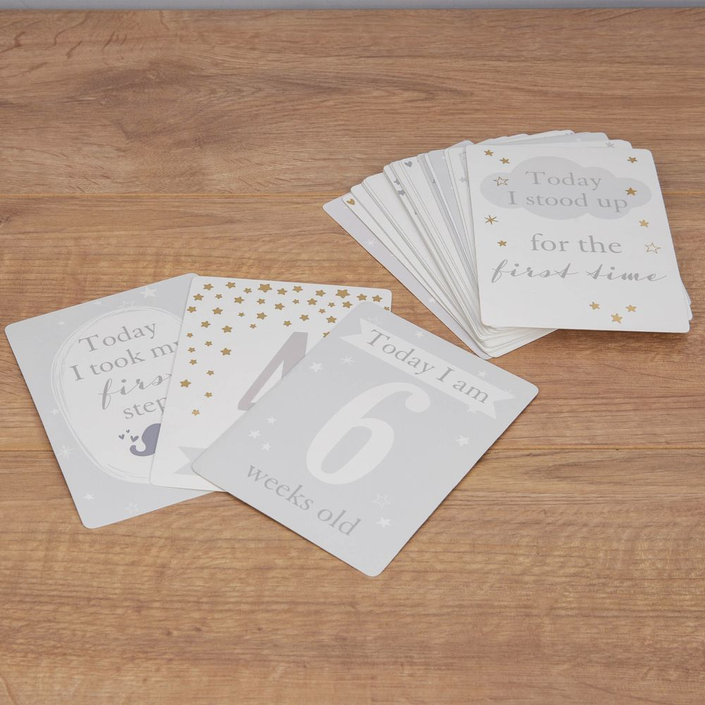 Bambino Little Star Baby Milestone Cards