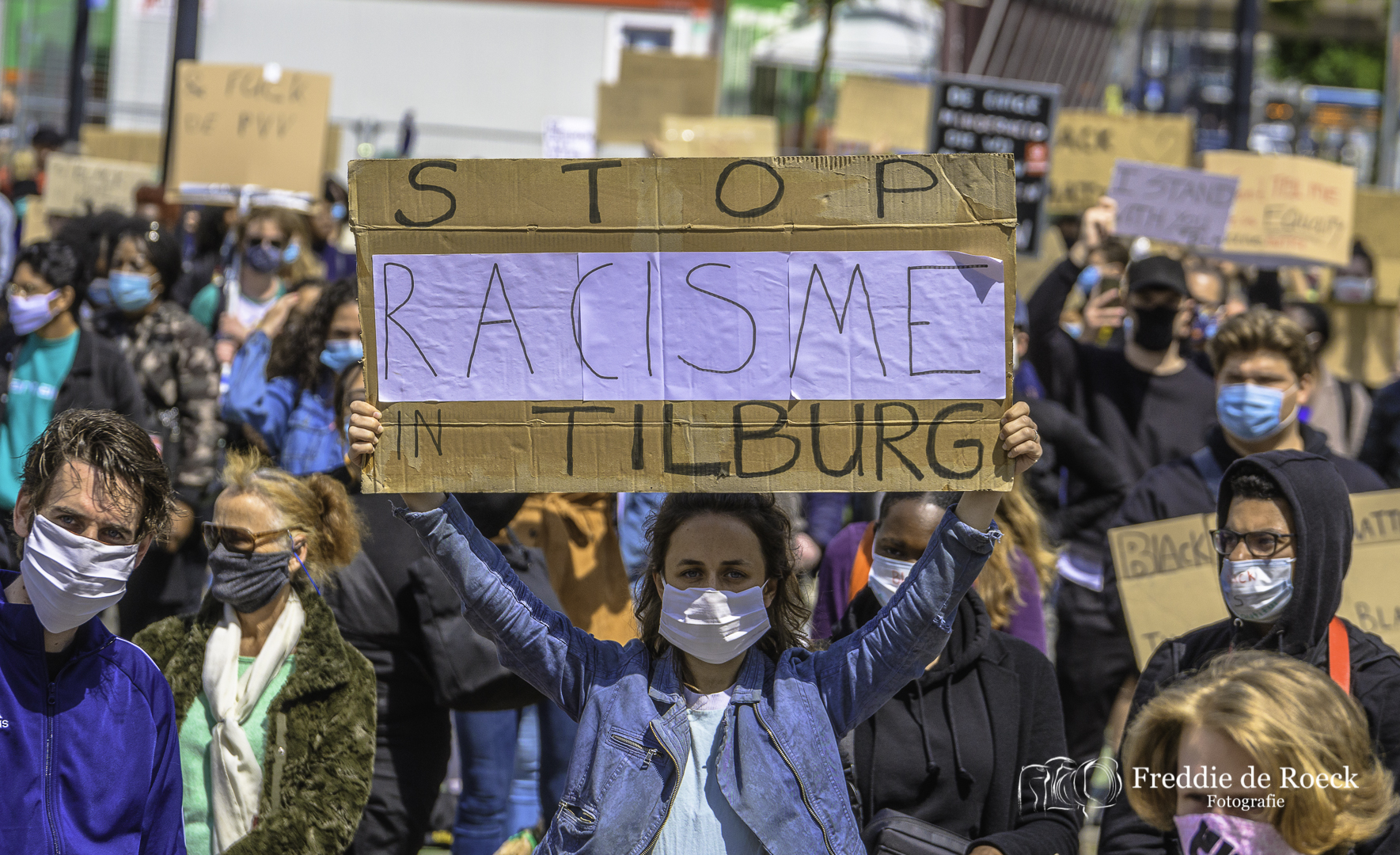 Foto's: Black Lives Matter Demonstratie in Tilburg