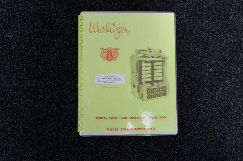 Wurlitzer Manual Model 5250 - 200 Selection Wall Box, Model 2100 Stepper Unit