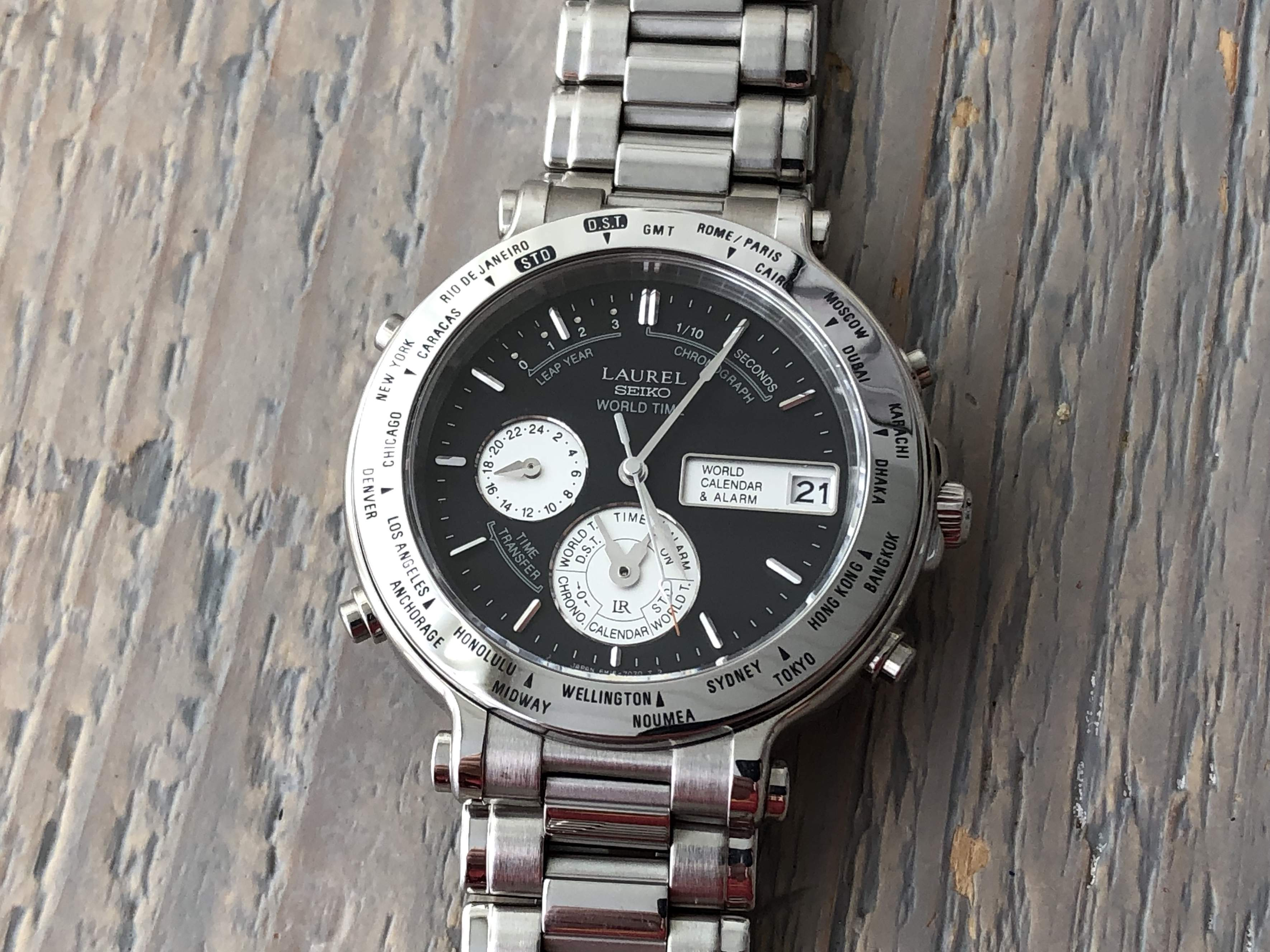 Seiko Laurel World Time 6M15-7040 (For sale)