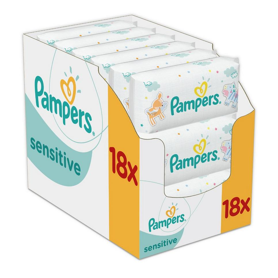 Pampers billendoekjes / luierdoekjes sensitive 18x52