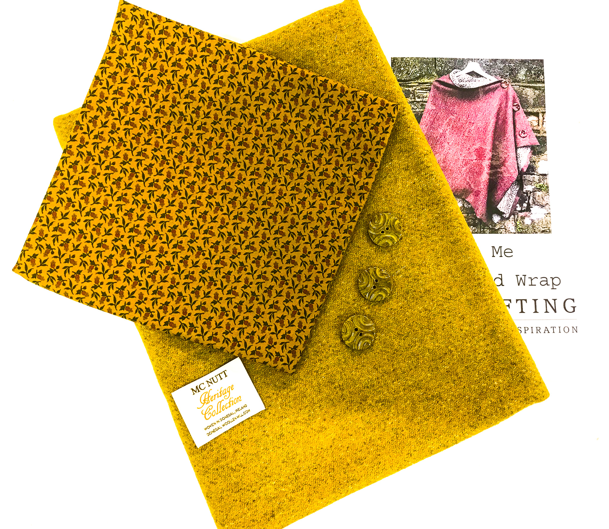 "Fabric Affair: ""Golden wheat tweed wrap kit"""