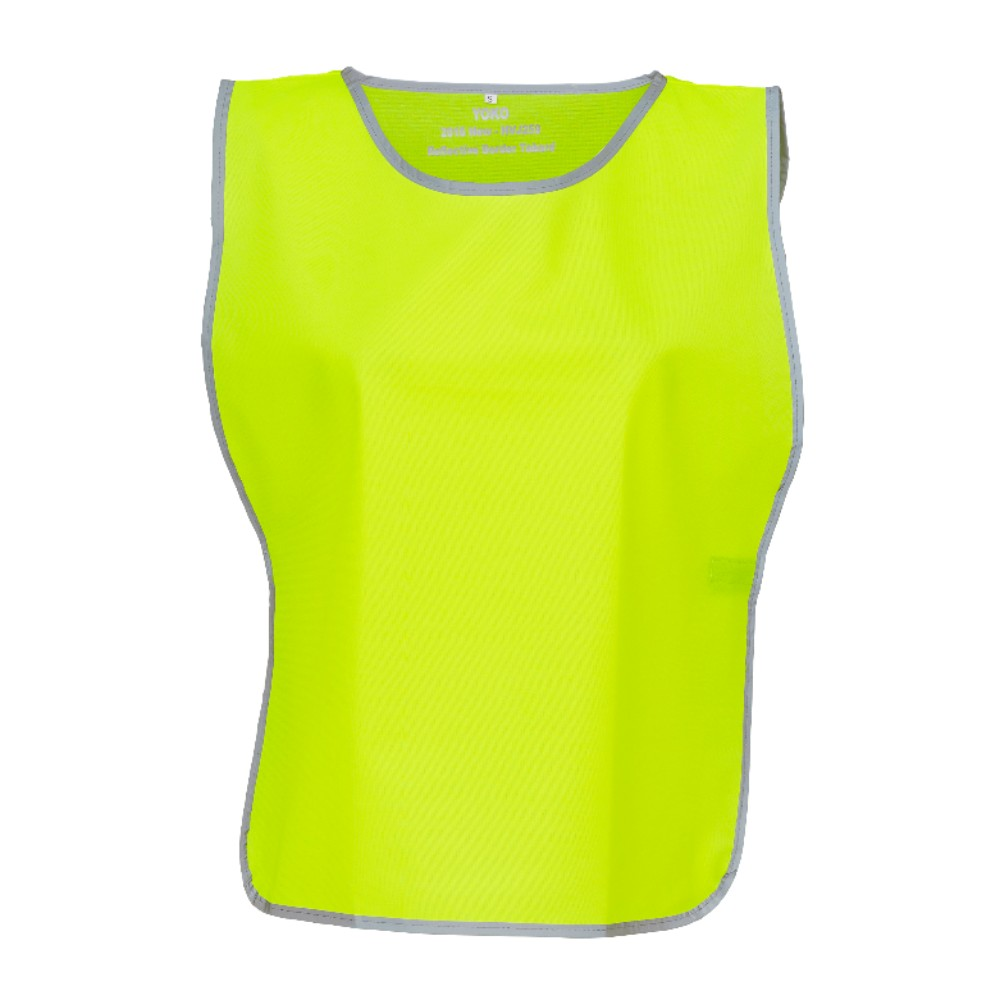 KHVJ259 Bright Yellow Grey Polyester Tabard with Reflective Trim