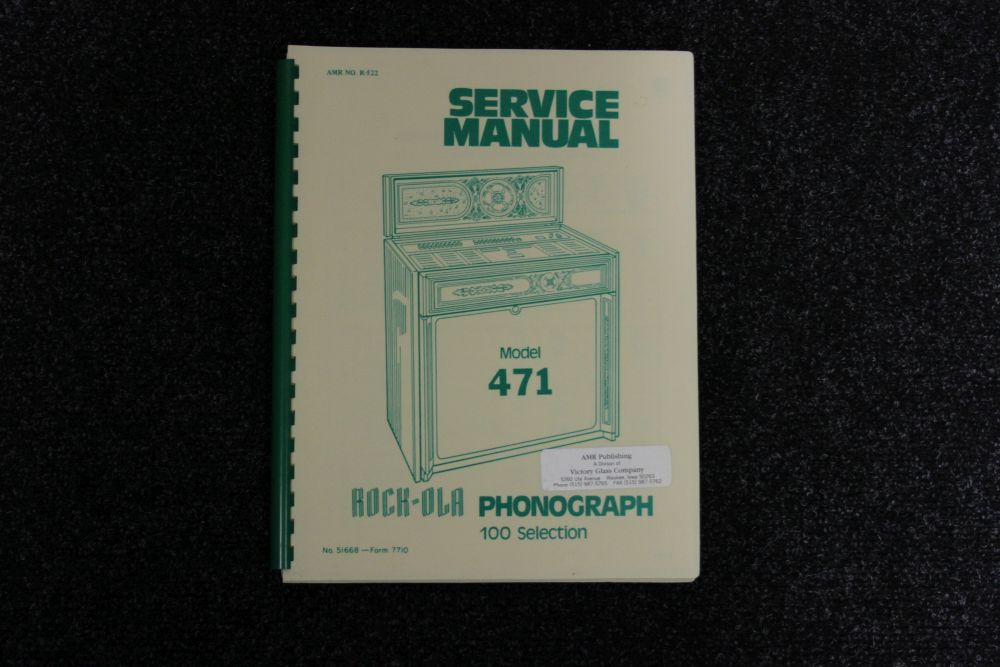 Rock-Ola Service Manual - Model 471
