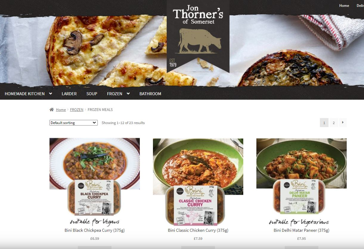 Bini Curries are now available Online through Jon Thorners