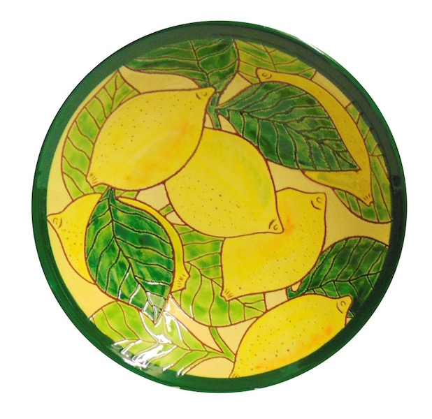 Lemons Design Pasta Bowl Spanish Ceramics