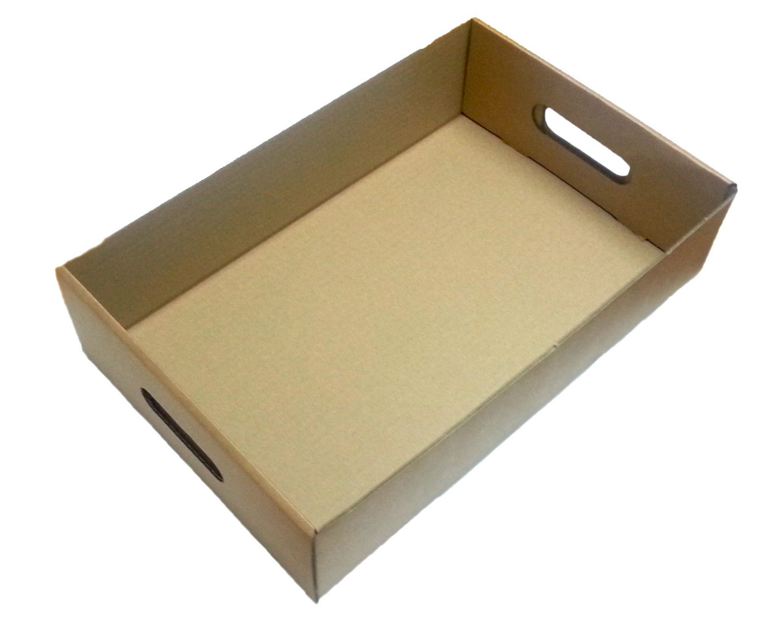 100 x Cardboard Die Cut Produce Trays Drinks Boxes Holds 24 Beer Cans