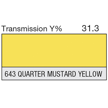 Lee 643 Quarter Mustard Yellow Roll