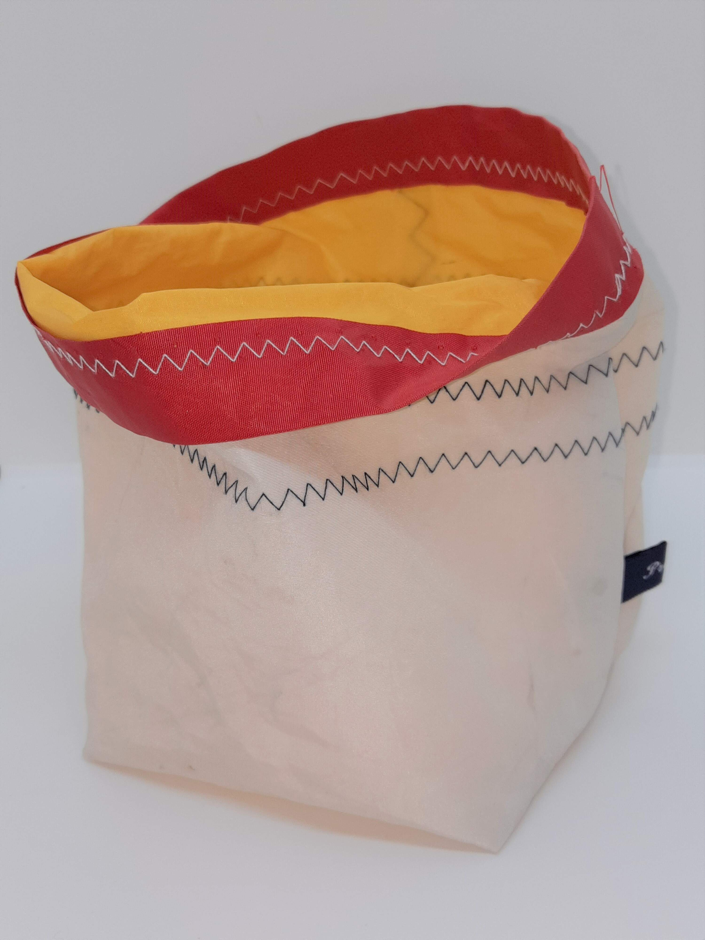 Storage bag with yellow lining