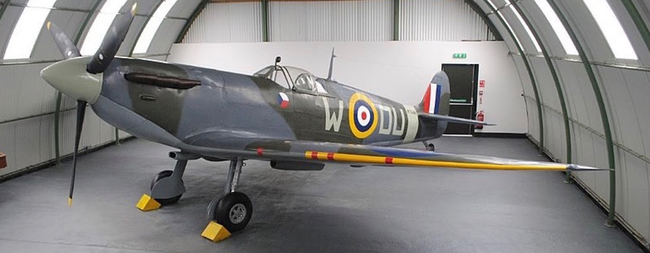 A World War II aircraft at Dumfries and Galloway Aviation Museum, Dumfries