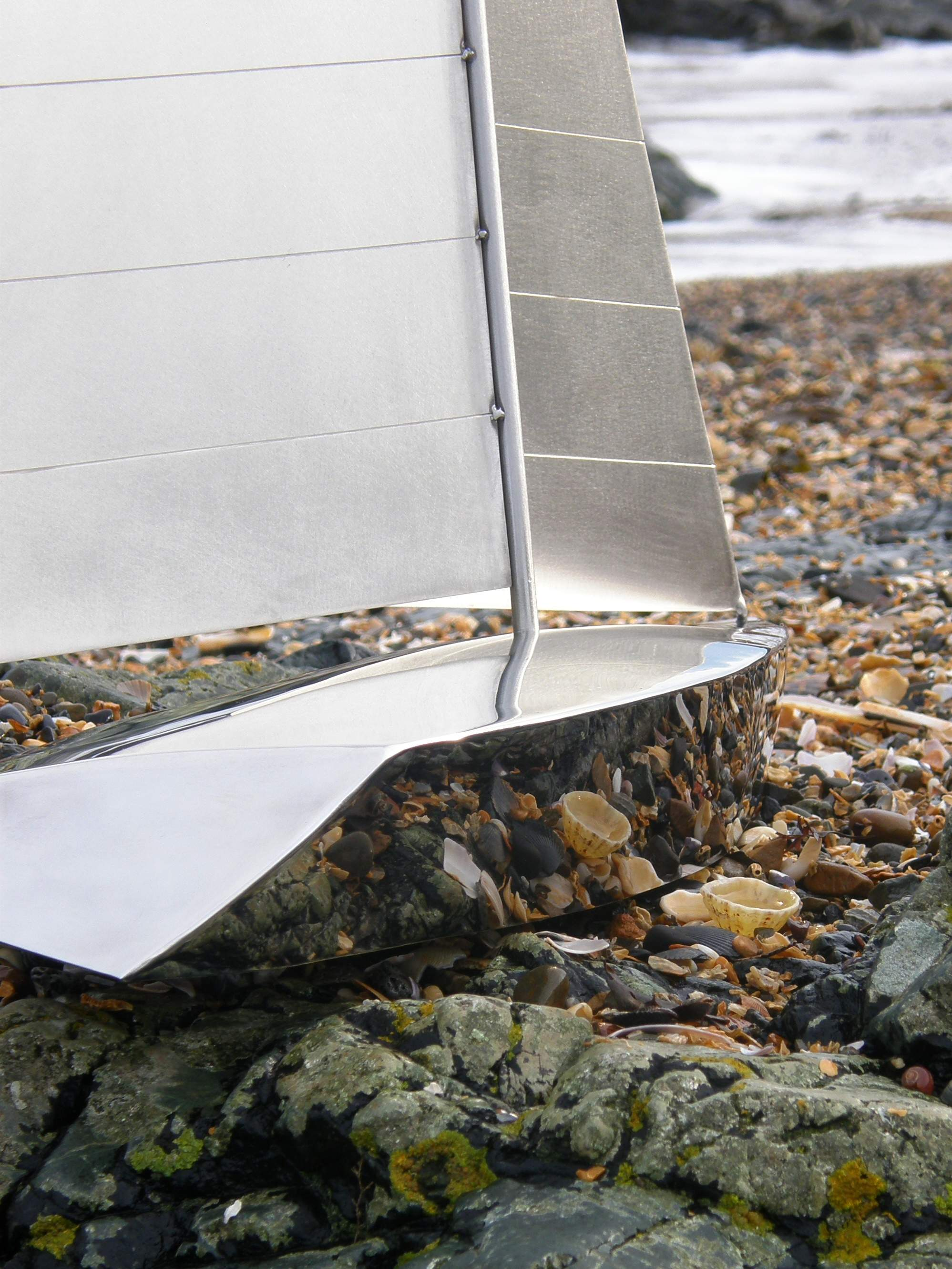 Close up detail of Highly Polished Hull & Sateen Finish Sails.
