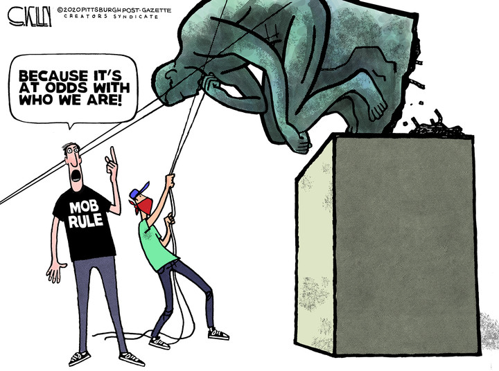 BLM_mob rule and the thinkerjpg
