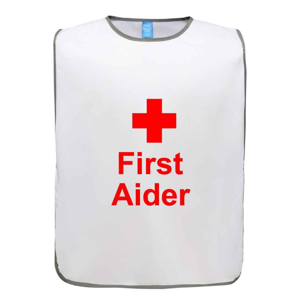 Polyester Reflective Tabards First Aider