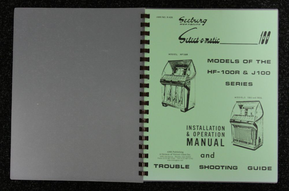 Seeburg - Inst and Operation Manual Models HF 100R and J100