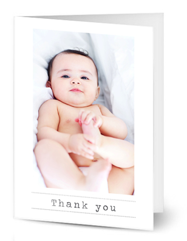 Portrait Baby Thank You Note