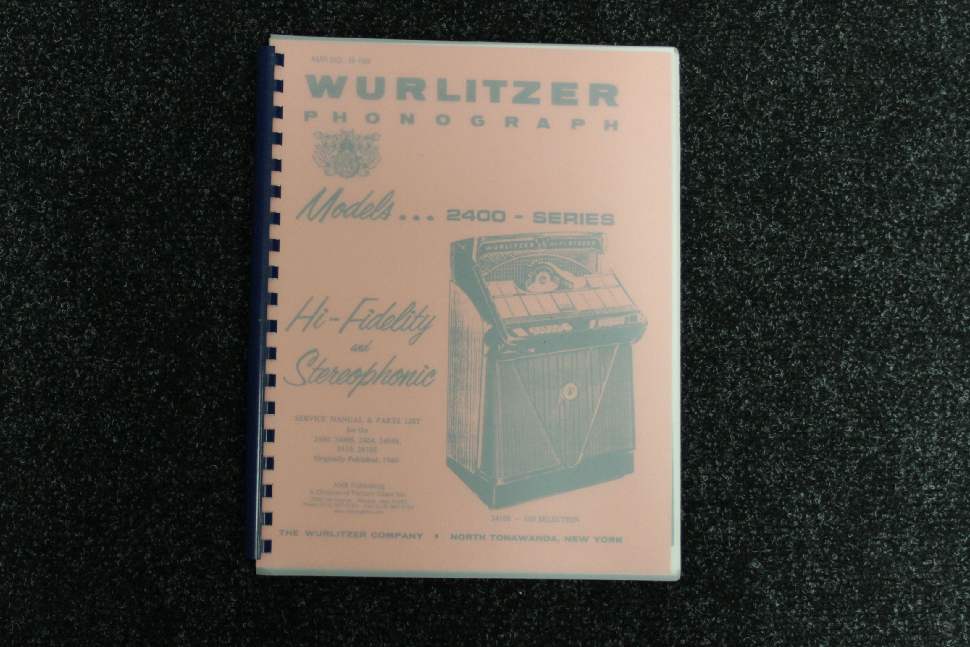 Wurlitzer service manual 2400