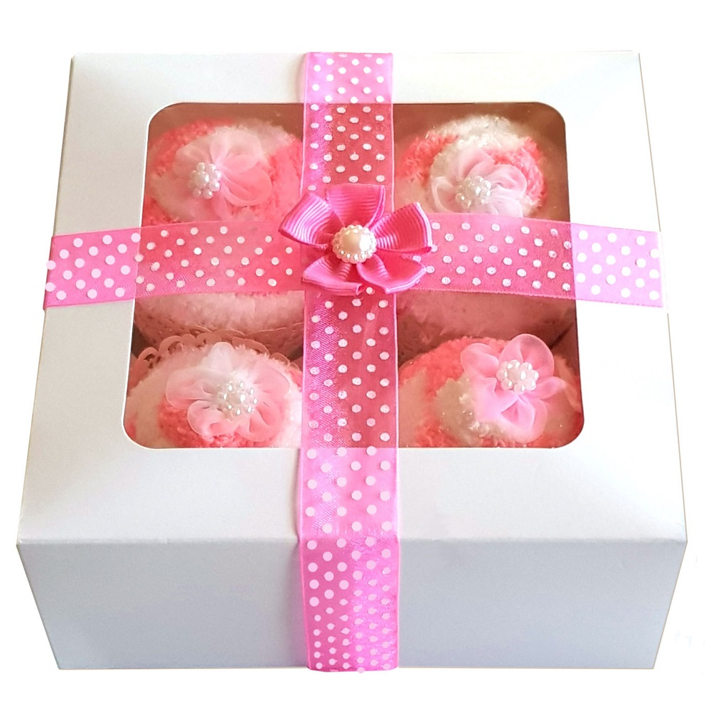 Women's 'Cozy Sock' Cupcakes, Pink Ribbon Gift Box.