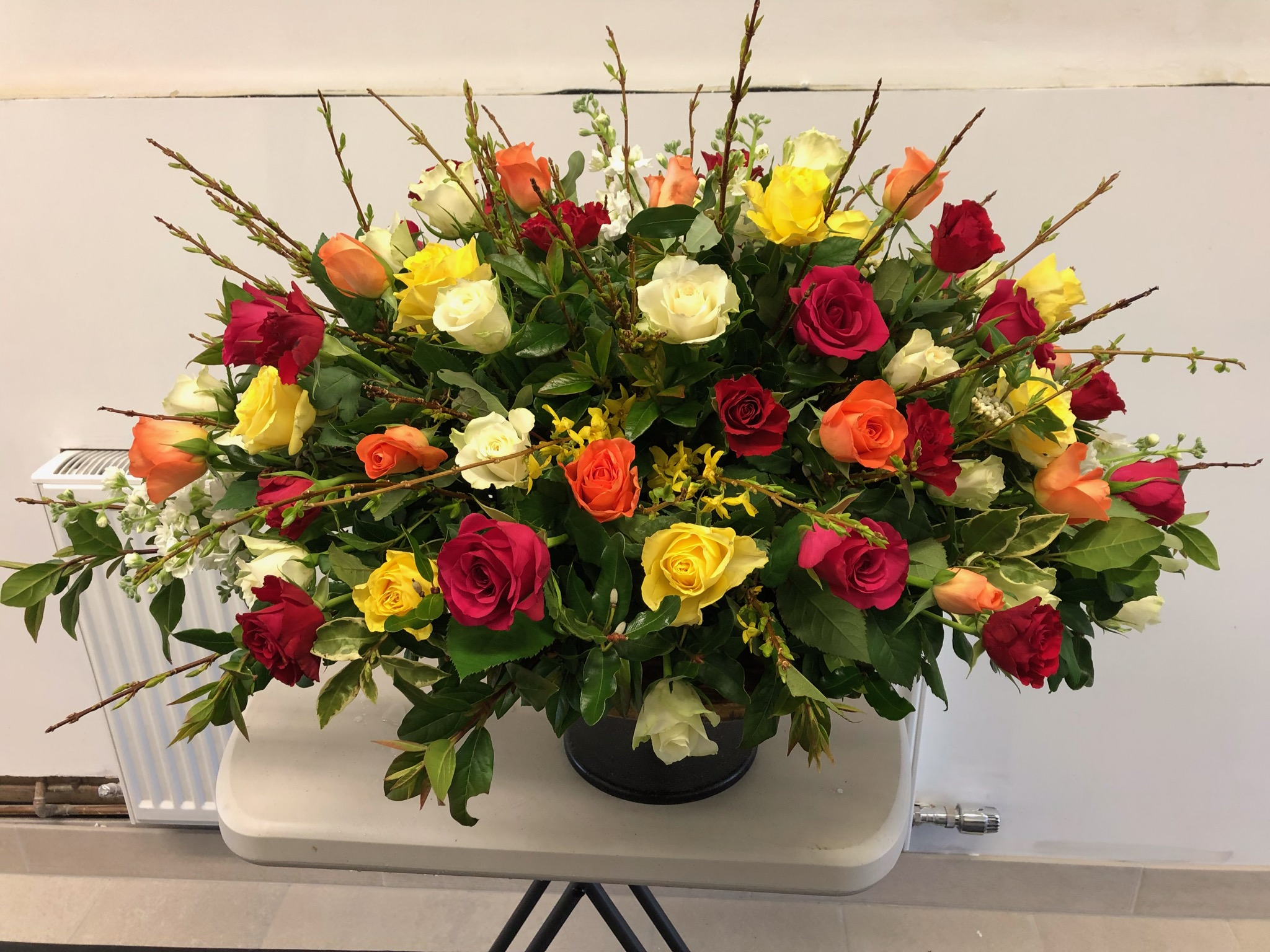 A recent Willow Kirkcudbright bouquet arrangement