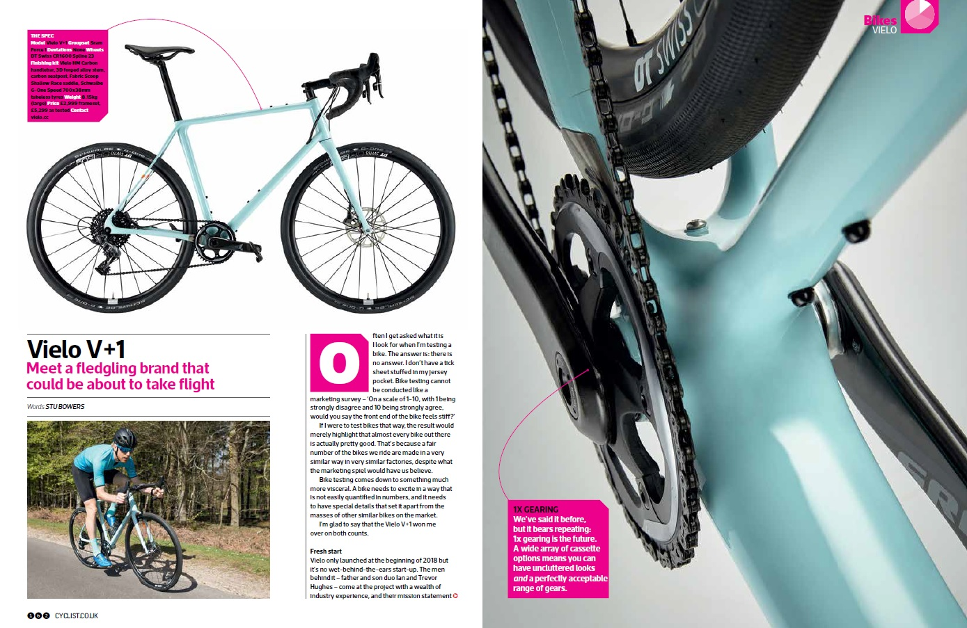 REVIEW: Vielo V+1 Cyclist Magazine June 2018