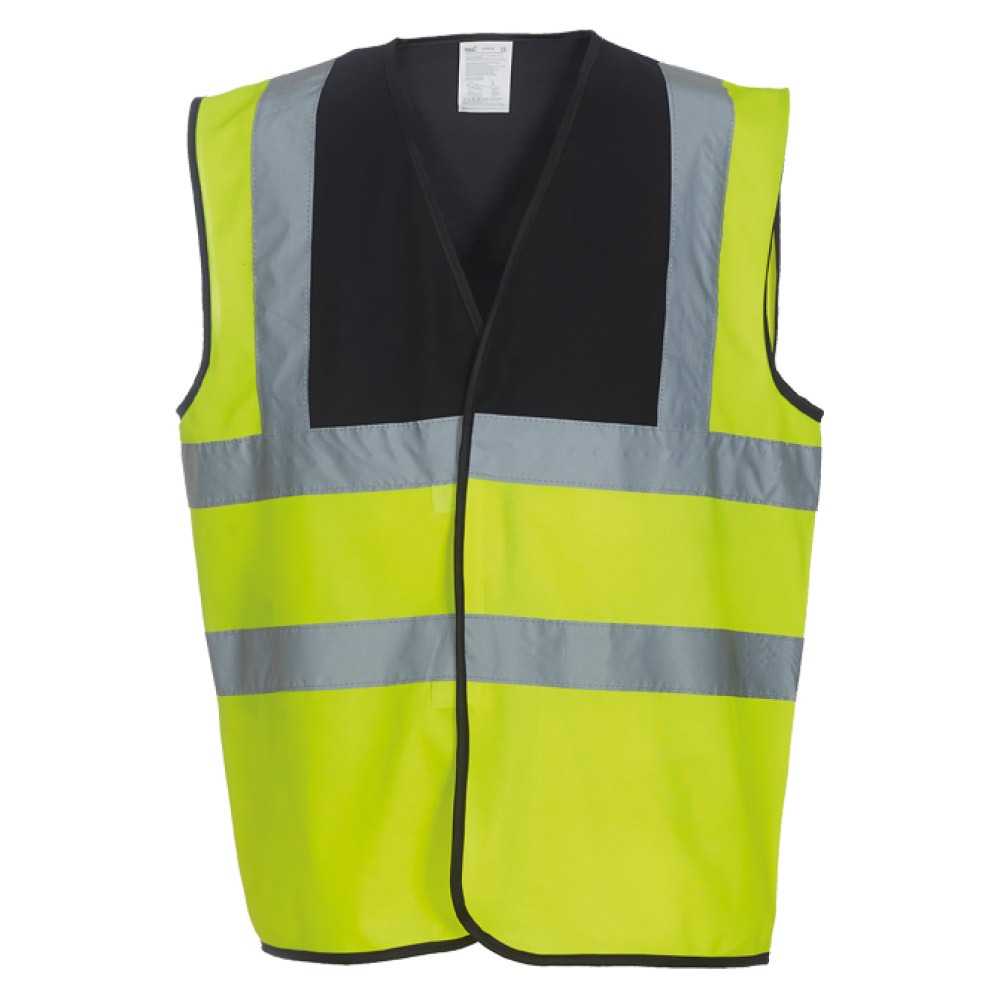 Black Yoke & Yellow Hi Vis Safety Vests
