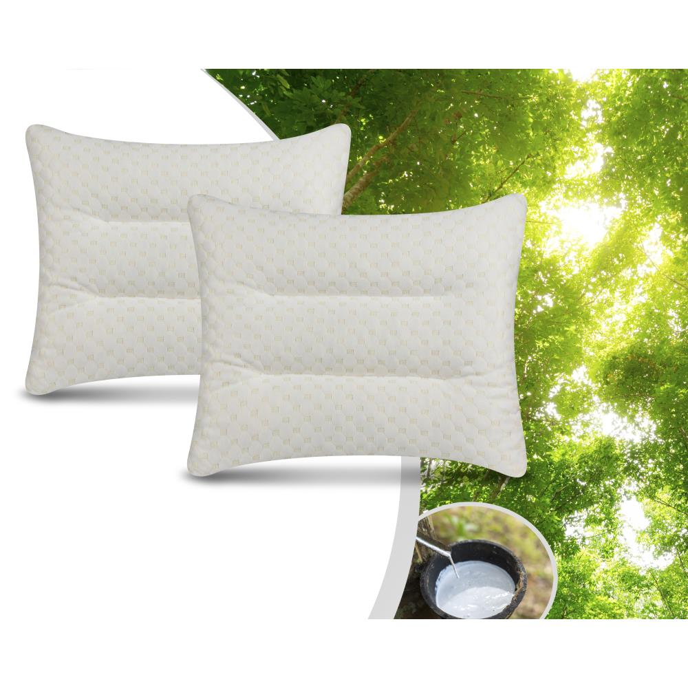 2PACK LATEX FIRM PILLOW WHITE